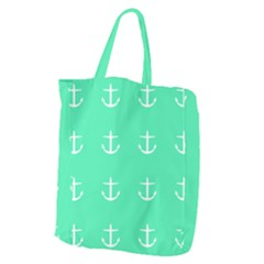 Seafoam Anchors Giant Grocery Tote by snowwhitegirl