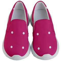 Small Pink Dot Kid s Lightweight Slip Ons by snowwhitegirl