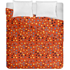 Red Retro Dots Duvet Cover Double Side (california King Size) by snowwhitegirl