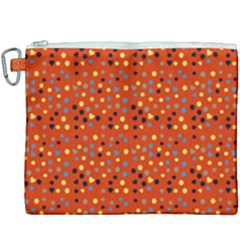 Red Retro Dots Canvas Cosmetic Bag (xxxl) by snowwhitegirl