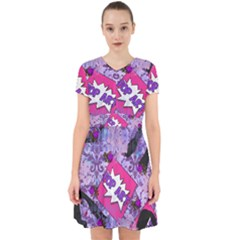Purple Retro Pop Adorable In Chiffon Dress by snowwhitegirl