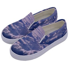 In The Clouds Kids  Canvas Slip Ons by snowwhitegirl