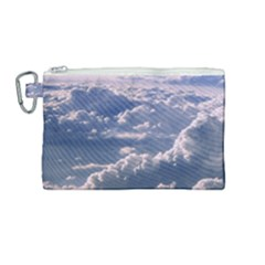 In The Clouds Canvas Cosmetic Bag (medium) by snowwhitegirl