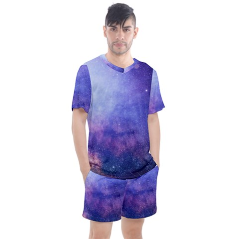 Galaxy Men s Mesh Tee And Shorts Set by snowwhitegirl