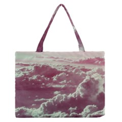 In The Clouds Pink Zipper Medium Tote Bag by snowwhitegirl