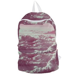 In The Clouds Pink Foldable Lightweight Backpack