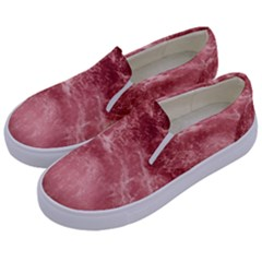 Red  Ocean Splash Kids  Canvas Slip Ons by snowwhitegirl