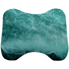Green Ocean Splash Head Support Cushion