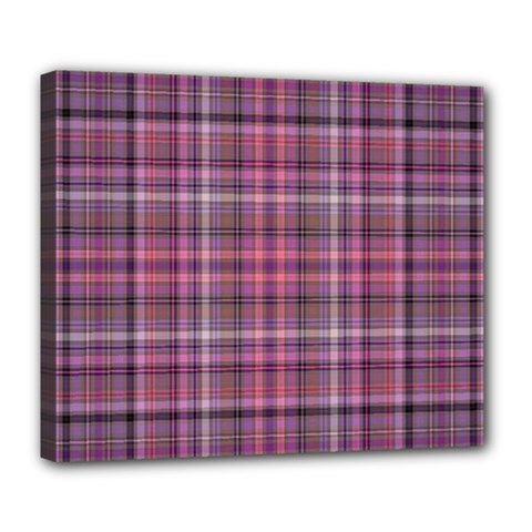 Pink Plaid Deluxe Canvas 24  X 20