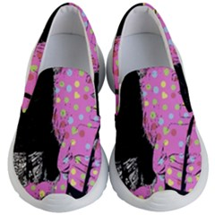 Weird Smile Kid s Lightweight Slip Ons by snowwhitegirl