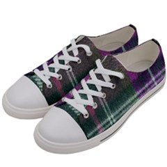 Pink Plaid Flannel Women s Low Top Canvas Sneakers by snowwhitegirl