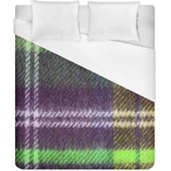 Neon Green Plaid Flannel Duvet Cover (california King Size) by snowwhitegirl