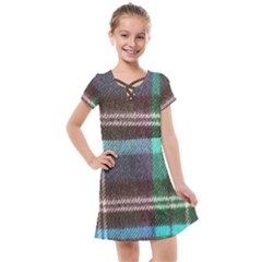 Blue Plaid Flannel Kids  Cross Web Dress by snowwhitegirl