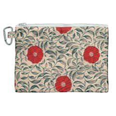 Papanese Floral Red Canvas Cosmetic Bag (xl) by snowwhitegirl