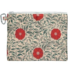 Papanese Floral Red Canvas Cosmetic Bag (xxxl) by snowwhitegirl