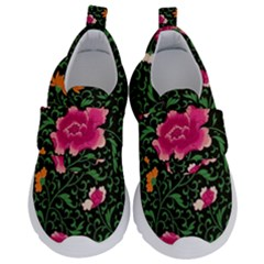 Pink Japan Floral Velcro Strap Shoes by snowwhitegirl