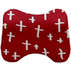 Red White Cross Head Support Cushion by snowwhitegirl
