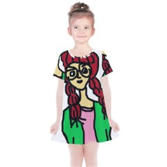Nerdy Girl Kids  Simple Cotton Dress