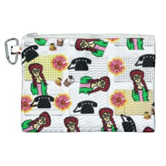 Office Girl Pattern Canvas Cosmetic Bag (xl) by snowwhitegirl