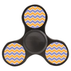 Zigzag Chevron Pattern Blue Orange Finger Spinner by snowwhitegirl