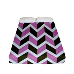 Zigzag Chevron Pattern Pink Brown Fitted Sheet (full/ Double Size)