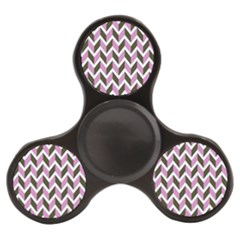 Zigzag Chevron Pattern Pink Brown Finger Spinner