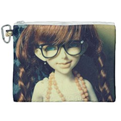 Red Braids Girl Old Canvas Cosmetic Bag (xxl) by snowwhitegirl