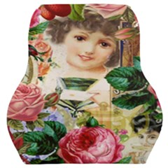 Little Girl Victorian Collage Car Seat Back Cushion