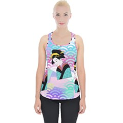Japanese Abstract Piece Up Tank Top