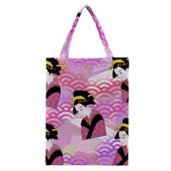 Japanese Abstract Pink Classic Tote Bag by snowwhitegirl