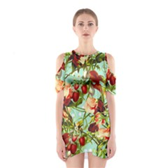 Fruit Blossom Shoulder Cutout One Piece by snowwhitegirl