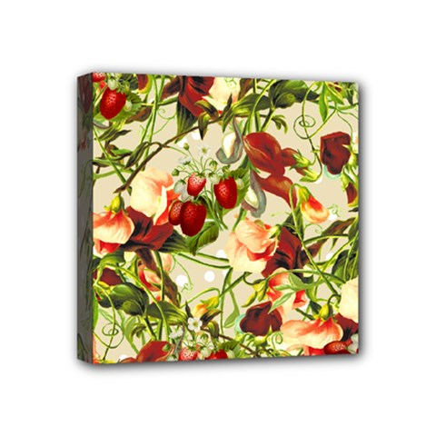 Fruit Blossom Beige Mini Canvas 4  X 4  by snowwhitegirl