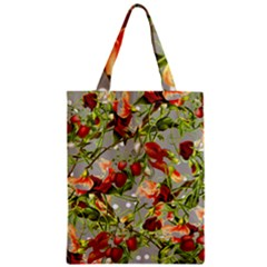 Fruit Blossom Gray Zipper Classic Tote Bag by snowwhitegirl