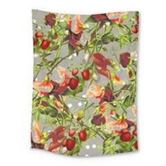 Fruit Blossom Gray Medium Tapestry by snowwhitegirl