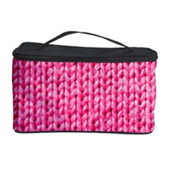 Knitted Wool Bright Pink Cosmetic Storage by snowwhitegirl
