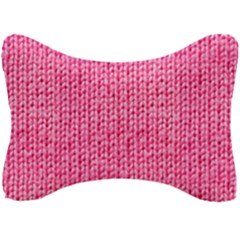 Knitted Wool Bright Pink Seat Head Rest Cushion