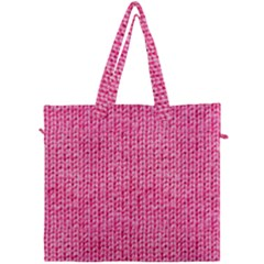 Knitted Wool Bright Pink Canvas Travel Bag
