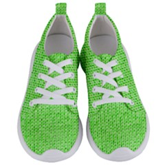 Knitted Wool Neon Green Women s Lightweight Sports Shoes