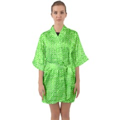Knitted Wool Neon Green Quarter Sleeve Kimono Robe by snowwhitegirl