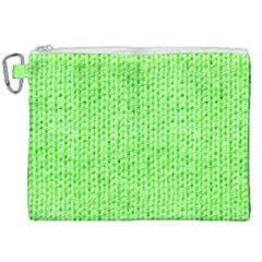 Knitted Wool Neon Green Canvas Cosmetic Bag (xxl)