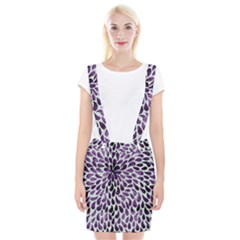 Purple Abstract Swirl Drops Braces Suspender Skirt