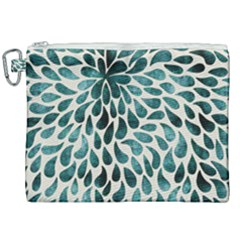 Teal Abstract Swirl Drops Canvas Cosmetic Bag (xxl) by snowwhitegirl