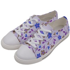 Blue Vintage Flowers Women s Low Top Canvas Sneakers by snowwhitegirl