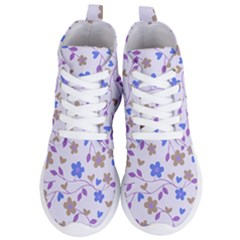Blue Vintage Flowers Women s Lightweight High Top Sneakers by snowwhitegirl