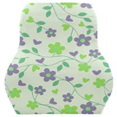 Green Vintage Flowers Car Seat Back Cushion