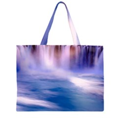 Waterfall Zipper Large Tote Bag by snowwhitegirl