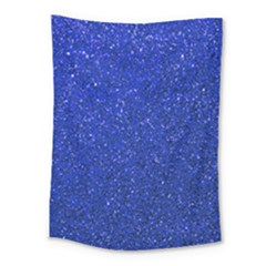 Blue Glitter Medium Tapestry by snowwhitegirl