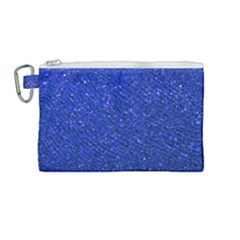 Blue Glitter Canvas Cosmetic Bag (medium)