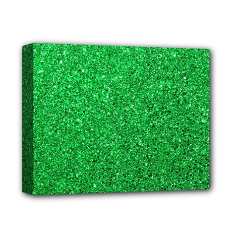 Green Glitter Deluxe Canvas 14  X 11  by snowwhitegirl