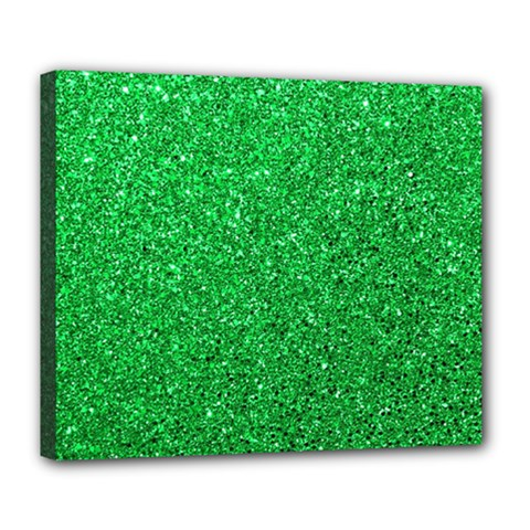 Green Glitter Deluxe Canvas 24  X 20